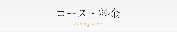 コース・料金 training course
